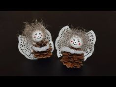 Engel aus Kaffeekapseln basteln - YouTube
