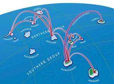 Air Rarotonga's route network