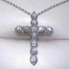 Tiffany and Co. diamond cross pendant