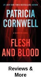 Flesh and blood : a Scarpetta novel / Patricia Cornwell. Dr. Kay Scarpetta's cell phone rings, and Detective Pete Marino tells her there's been a homicide five minutes away. A high school music teacher was shot with uncanny precision as he unloaded groceries from his car. Yet no one heard or saw a thing.