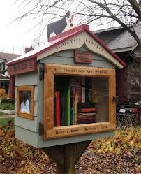 Have a Free Little Library put up in the shape of the Tardis (Doctor Who) and fill it with science fiction books. Neighborhood to be determined.