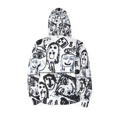 Black and White Faces by Elisavet Hoodie Black And White Face, Faces, Unisex, Hoodies, Color, Fashion, Moda, Sweatshirts, Fashion Styles
