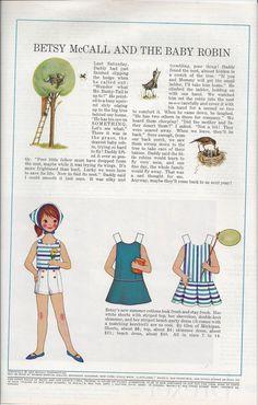 1964 Betsy McCall Magazine Paper Dolls  Betsy by VictorianWardrobe, $4.00