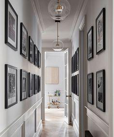 An Edwardian apartment in London with a Parisian feel   Homes & Gardens Modern Classic Interior, Hallway Designs, Hallway Ideas, Corridor Ideas, Flur Design, Corridor Design, Long Room, Appartement Design, Edwardian House