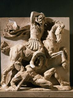 Alexander the Great, Metope, 3rd century BC Greek Photographic Print at Art.com