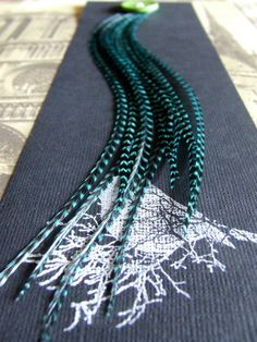12 Turquoise Loose Feather Hair Extensions by FeatheredSparrow, $13.50