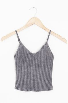 """- Details - Size - Shipping - • 61% Polyester 33% Rayon 6% Spandex • Ribbed v-neck crop tank top • Hand Wash • Line dry • Made in the U.S.A • Measured from small • Length 14"""" • Chest 11"""" - Free domest"""