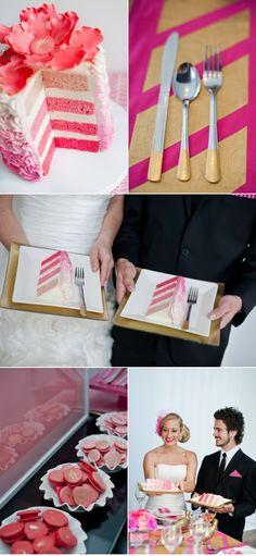 Wonderful!!! Pink wedding cake!!! Shared by ice-wedding.com