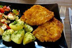 Kotlety schabowe w cieście czosnkowym - Blog z apetytem Polish Recipes, Polish Food, Lunches And Dinners, Tandoori Chicken, Cauliflower, Grilling, Beans, Pork, Food And Drink