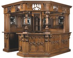 Gothic Revival Corner Bar. I guess this would look a bit ridiculous in our tiny house. But I am willing to try!