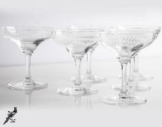 Mid Century Etched Cut Crystal Laurel by TheCordialMagpie on Etsy