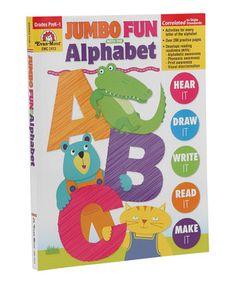 This Jumbo Fun With the Alphabet PreK-1 Workbook by Evan-Moor Educational Publishers is perfect! #zulilyfinds