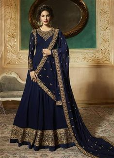 cec32ae7fa Party Grown - Indian Catalog Bangladeshi Copy - Blue - Eliteshopbd Salwar  Suits, Salwar Kameez