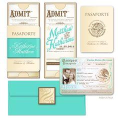 Passport wedding invitations!