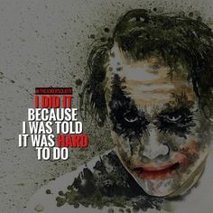 """1,100 Likes, 3 Comments - Joker Quotes (@thejokersquote) on Instagram: """"Must Follow @TheJokersQuote @TheJokerSayings For Daily Motivation And Inspirational Quotes…"""""""