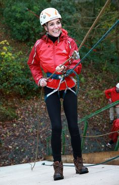 Kate Middleton Abseils in Wales