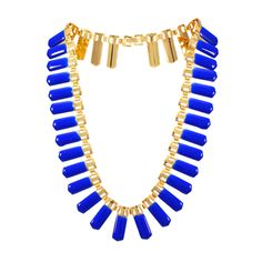 Trendy Golden And Blue Fashion Necklace For Women