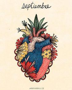 Psychedelic Art, Mexican Art Tattoos, Heart Tattoo Designs, Anatomy Art, Hippie Art, Diy Canvas Art, Heart Art, Filofax, Cute Art