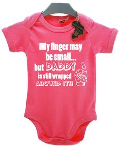 Cute Baby girl Clothes Product | Home / My Finger May Be Small... Babygrow