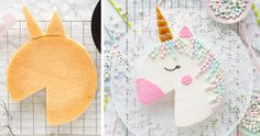 Cake Decorating Techniques, Cake Decorating Tips, Butterfly Birthday, Unicorn Birthday, Cake Designs For Kids, Cute Food Art, Rainbow Unicorn Party, Cake Shapes, Baking With Kids