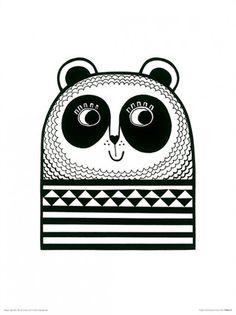 Happy Panda Art Print at AllPosters.com