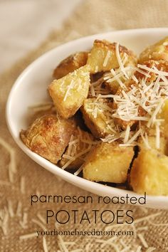 Or so she says...: Parmesan Roasted Potatoes (she: Leigh Anne)