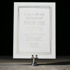 Wedding Invitation - love the border