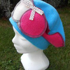 Bonnet chapeau béret polaire enfant confortable unique hiver lin'eva