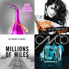 A playlist featuring Vee Brondi, CNCO, Charli XCX, and others