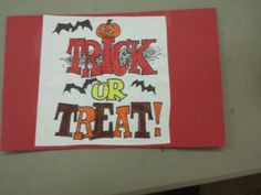 Halloween card handmade by a volunteer at March of the Blanketeers.  Want to learn more information on March of the blanketeers and learn how to get started volunteering for us?  Marchoftheblanketeer.wix.com/home
