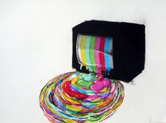 gaksdesigns:    Test Pattern by Dan Rule  Charcoal, marker and colored pencil.