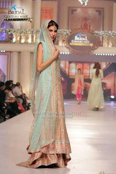 Pakistani bridal cotour week june2015 #pbw designer #sAba abbas  pinned by #sidra younas