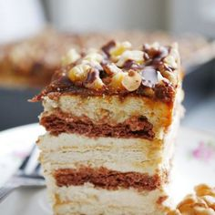 Orzechowiec bez pieczenia Food Cakes, Tiramisu, Cake Recipes, Deserts, Food And Drink, Baking, Ethnic Recipes, Recipes, Mudpie