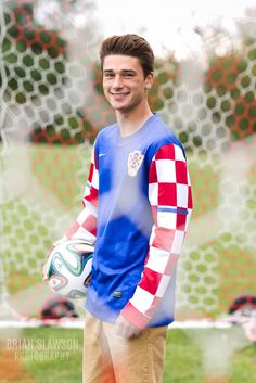 Photo by Brian Slawson Photography. Senior portrait. #seniorshoot #highschool #soccer #croatian #sports
