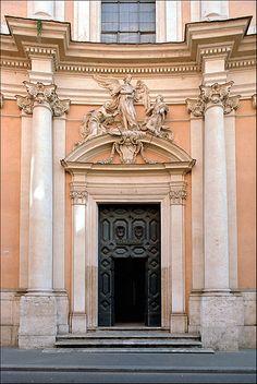 """Roma, via Condotti, chiesa della SS. Trinità degli Spagnoli: """"S. Giovanni di Matha in gloria"""" (Gregorio Guglielmi, 1748)"""