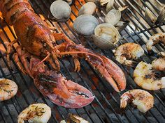 Shellfish: Lobster, for example, is free of saturated fats and low in calories (if you don't slather it with butter). #healthy #grilling