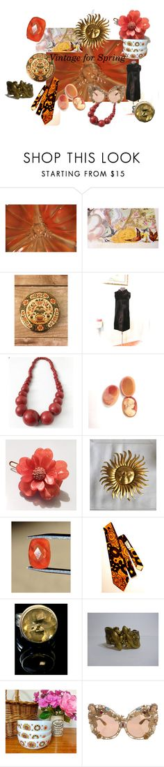 Awesome Spring Accessories and Style by starshinevintage on Polyvore featuring Dolce&Gabbana and vintage