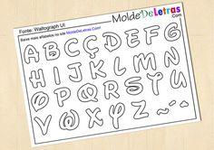 Molde de Letras e Números estilo Walt Disney
