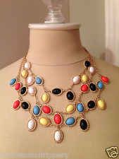New Fall Statement necklace resin collar bib lady 2014 new US SELLER