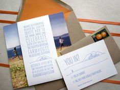 Claudine + Michael's Unique California Wedding Invitations