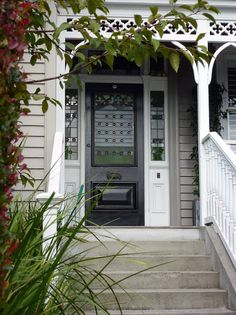 A favourite Auckland villa door - Bestpin Doors, Front Stairs, House Exterior, Home N Decor, External Doors, Colonial Style, House Painting, House Colors, Villa