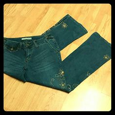 Adorable Mixit Boho Jean Very cute pants, very gentle use, a couple tiny rhinestones missing, but very hard to see. Mixit  Jeans Boot Cut