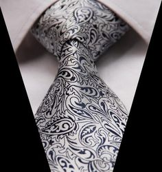 Floral Paisley Tie for the Bearded Man about Town.