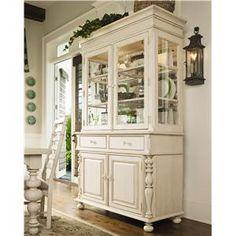 antique white hutch