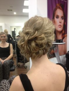 Upstyle / messy bun / formal hair by AmberD