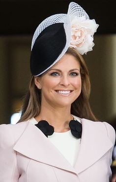 Princess Madeleine, April 30, 2016 in Philip Treacy | Royal Hats