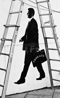 Street Art Photo, Fine Art Photographic Print - 'Bad Luck Thug' - Irish photography, Dublin Street Art Print - Glossy Photo Print UNFRAMED Dublin Street, Photographic Prints, My Boyfriend, Photo Art, Irish, Street Art, Fine Art, Art Prints, Pictures