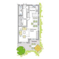 Reiheneckhaus - Erdgeschoss