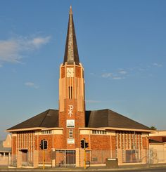 Dutch Reformed church of East London North, Eastern Cape, South Africa. Mosques, Cathedrals, Church Architecture, Church Building, My Land, East London, Christian Faith, Empire State Building, South Africa