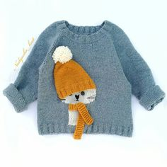 Baby Boy Knitting Patterns, Baby Sweater Knitting Pattern, Knitting For Kids, Crochet For Kids, Crochet Baby, Hand Knitting, Knit Crochet, Cardigan Bebe, Pull Bebe